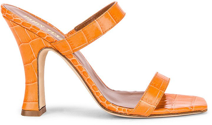 Moc Croco Mule in Orange | FWRD