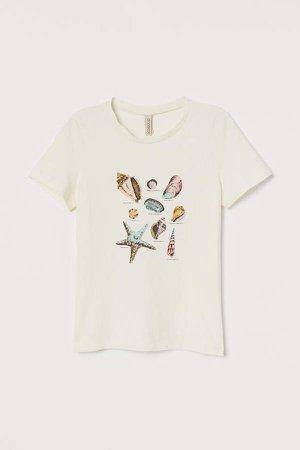 Printed T-shirt - White