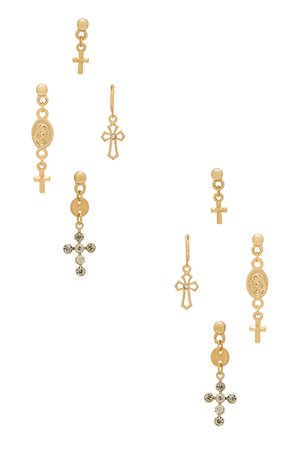Cross Earring Set
