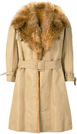 A.N.G.E.L.O. Vintage Cult 1970's fur trimmed trench coat