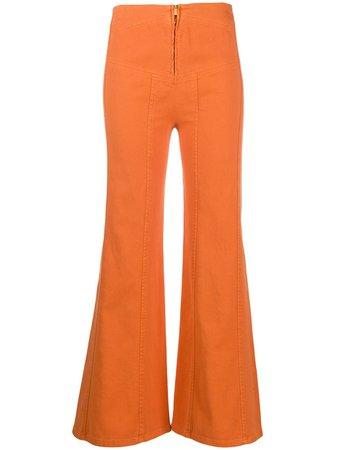 Alberta Ferretti high-waisted Flared Trousers - Farfetch