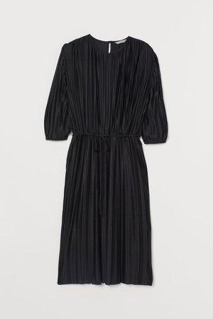 Pleated Dress - Black