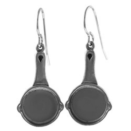 frying pan earrings
