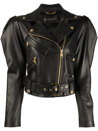 Versace Sculptural Biker Jacket - Farfetch