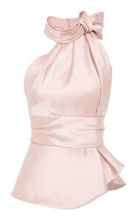 Bow-Embellished Satin Top by Brandon Maxwell | Moda Operandi