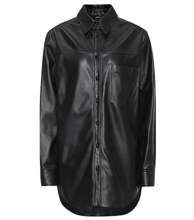 Gibson leather shirt