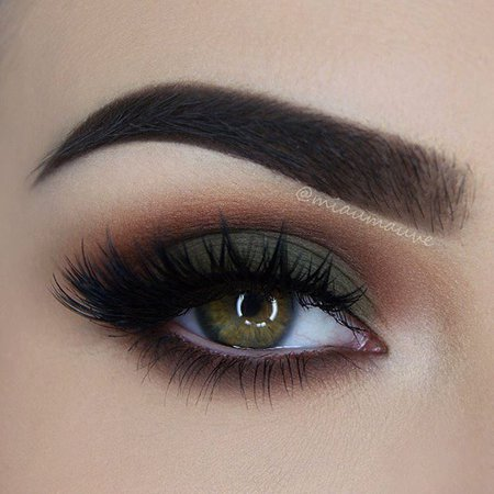 Olive Green Eye Makeup