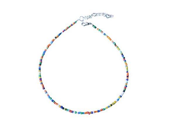 Amazon.com: Althrorry Beaded Choker Necklace Beach Bum Colorful Seed Beaded Choker Bead Jewelry (Muti 1): Gateway