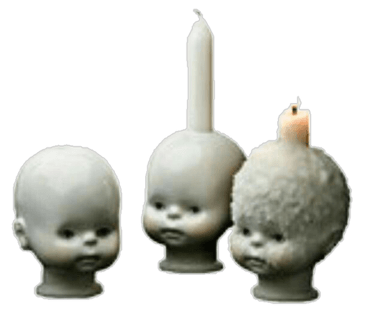 aesthetic png polyvore candle babyhead doll creepy whit...