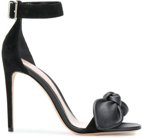 bow detail stiletto sandals