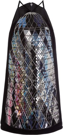 David Koma Gerkin' Embroidered Mini Dress