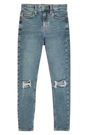 Topshop Jamie Greencast Ripped Skinny Jeans (Petite) | Nordstrom