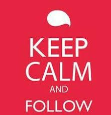 keep calm go follow