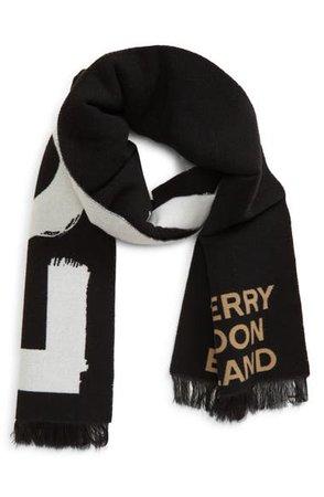 Burberry Love Logo Wool & Silk Scarf | Nordstrom