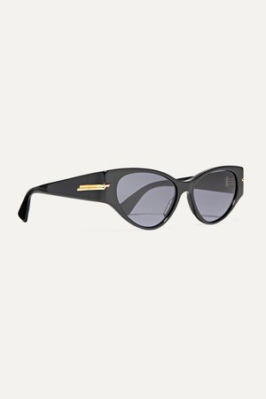 Black Cat-eye acetate sunglasses | Bottega Veneta | NET-A-PORTER