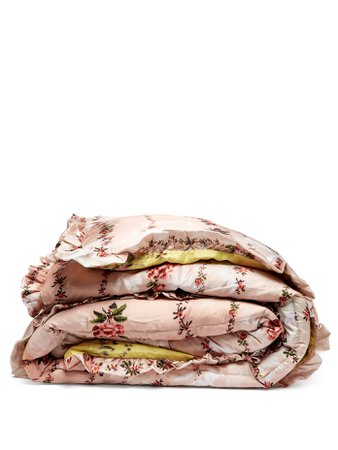 PREEN BY THORNTON BREGAZZI  King quilted floral-print satin eiderdown