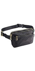 Amazon.com | ZORFIN Fanny Pack for Men & Women Nylon Waist Pack Bag Hip Bum Bag with 3 Zipper Pockets | Waist Packs