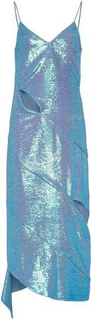 Sequined Paillettes Cutout Dress