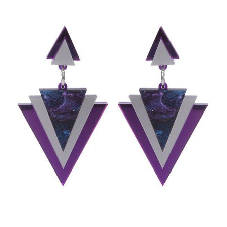 Purple Galaxy earrings | Sugar and Vice | Ethical production | NZ | Two Lippy Ladies