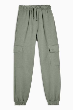 Green 90's Joggers With Cargo Pockets | Topshop