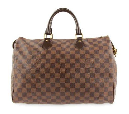 Louis Vuitton Speedy 35 Damier Ebene Brown Coated Canvas Satchel - Tradesy