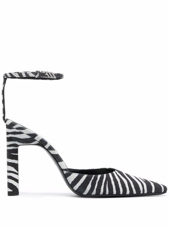The Attico zebra-print pumps - FARFETCH