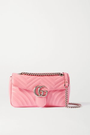 Pink GG Marmont small quilted leather shoulder bag   Gucci   NET-A-PORTER