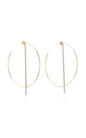 Hoop Earrings With White Diamond Bar by Diane Kordas | Moda Operandi