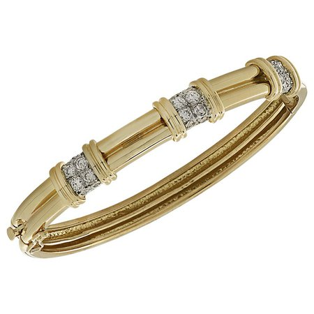 Diamond Bangle Bracelet For Sale at 1stDibs