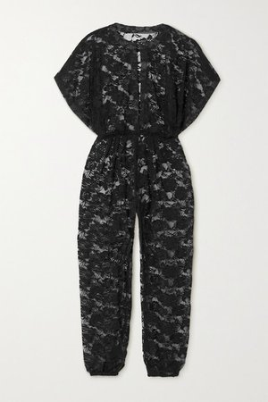 Rectangle Jog Lace Jumpsuit - Black