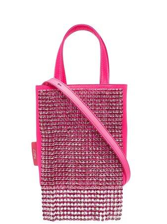 Tubici crystal-embellished tote bag pink SILCRYHB010 - Farfetch