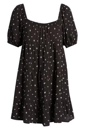 Row A Puff Sleeve Babydoll Dress | Nordstrom