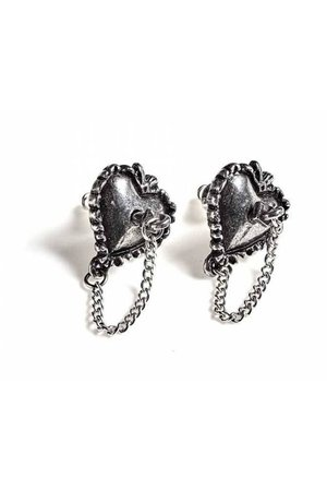 Witch's Heart Earrings by Alchemy Gothic   Gothic Jewellery
