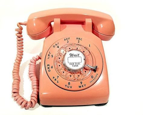 orange retro telephone png filler
