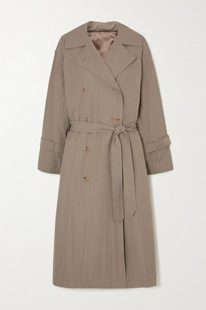 Tech Cotton-blend Trench Coat - Beige