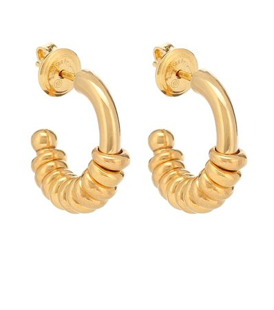 Gold-Plated Hoop Earrings - Bottega Veneta | Mytheresa