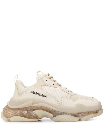 Neutral Balenciaga Triple S Sneakers | Farfetch.com