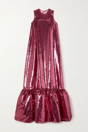 Pink Genevieve sequined tulle gown | Huishan Zhang | NET-A-PORTER