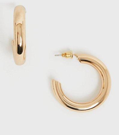 Gold Chunky Hoop Earrings | New Look