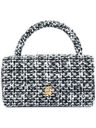 Chanel Pre-Owned 1991-1994 Quilted Cc Logo Hand Bag Vintage | Farfetch.com