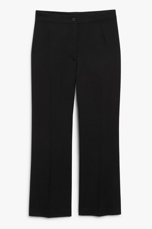 Tailored trousers - Black - Trousers - Monki WW