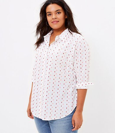 Plus Clip Relaxed Shirt