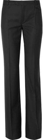 Rocker Super 100 Wool-twill Wide-leg Pants - Black
