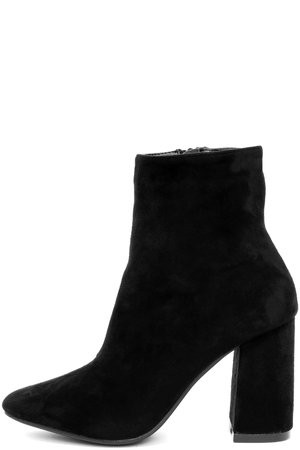 Stylish Black Suede Boots - Fitted Black Booties - Heeled Boots - Lulus