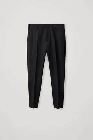 SKINNY STRETCH-COTTON TROUSERS - Black - Trousers - COS WW