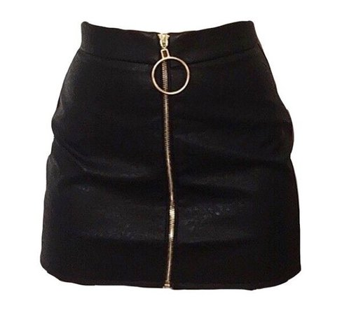 black png skirt