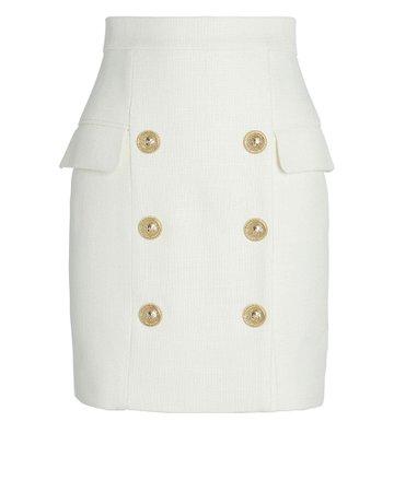 Balmain | High-Waist Grain De Poudre Mini Skirt | INTERMIX®