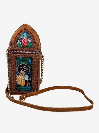 Danielle Nicole Disney Beauty And The Beast Fairytale Stain Glass Crossbody Bag