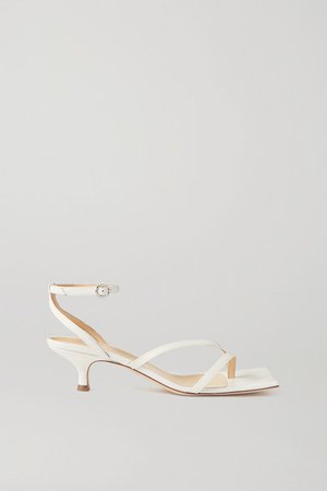 Delta Low Leather Sandals - White