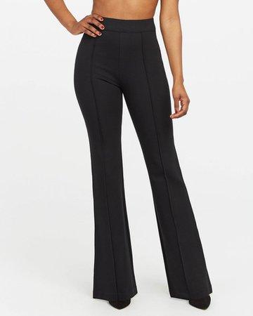 High-Waisted Ponte Pants - Stretch & Flare   SPANX